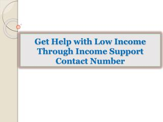 Get Help with Low Income Through Income Support Contact Numb