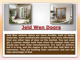 Jeldwen Doors
