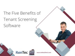 The Five Benefits of Tenant Screening Software