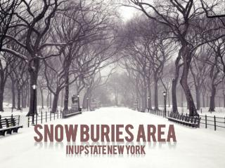 Snow buries area in upstate New York