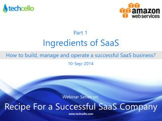 How to build, manage and operate a successful SaaS business