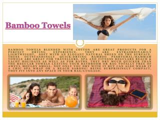 Bamboo Towels UK