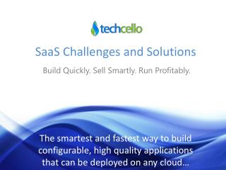 SaaS Challenges and Solutions