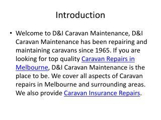 D&I Caravan Maintenance