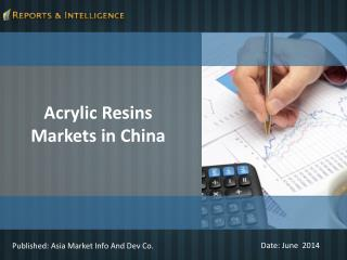 Acrylic Resins Markets in China - Size, Share, Forecast
