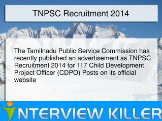 TNPSC Recruitment Notification 2014 - Interviewkiller