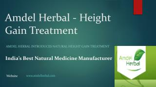 Height Gain Treatment - Amdel Herbal