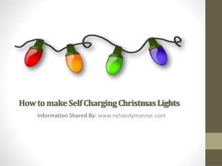 Make Christmas Lights Chargeable