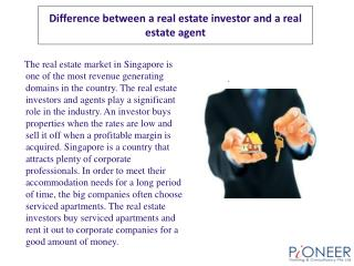 Difference between a real estate investor and a real estate
