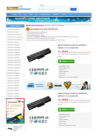 vgp-bps13/q Batterie pour Sony Viao