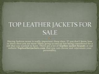 Top leather jackets for sale
