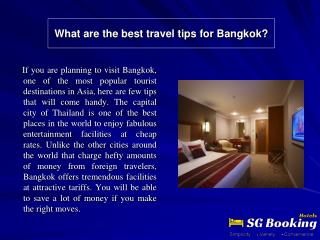 What are the best travel tips for Bangkok?