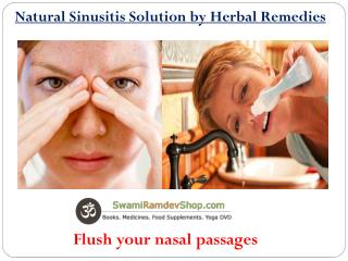 Natural Sinusitis Solution by Herbal Remedies
