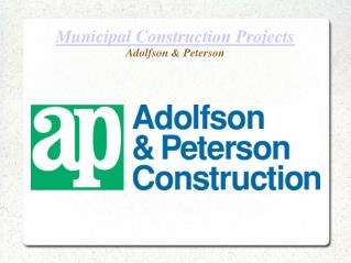 Municipal Construction Projects in USA - A&P Construction