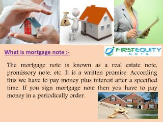 What is mortgage note and why important
