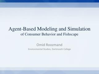 Omid Roozmand Consumer Behavior