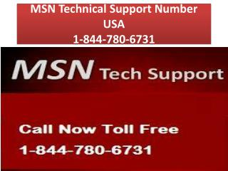 MSN Technical Support Number USA 1-844-780-6731