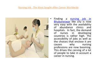 Nursing Job In Bhubaneswar