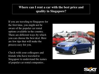 Where can I rent a car with the best price and quality in Si