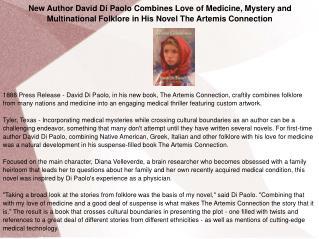 New Author David Di Paolo Combines Love of Medicine