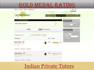 Gold Medal rating