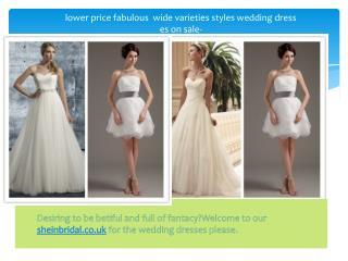 Short Wedding Dresses-Sheinbridal