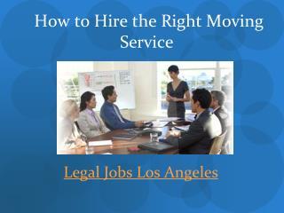 Legal Jobs Los Angeles