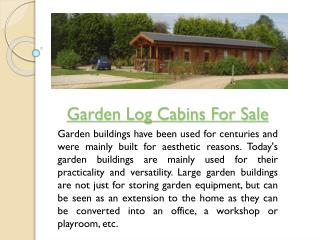 Garden Log Cabins UK