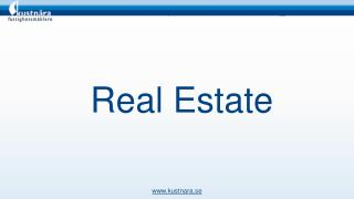 Kustnära Real Estate provides a great facility to sell your