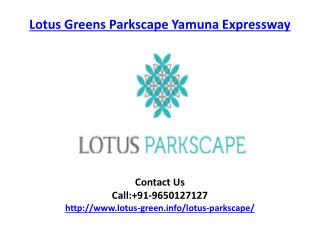 Lotus Greens Parkscape Residential Apartments