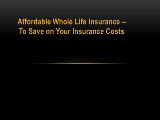 Single Premium Life Insurance - A Set Premium Level for the