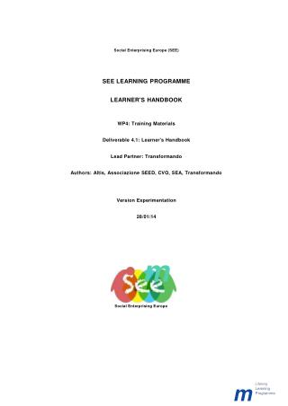 Social Business Training Learners - Handbook