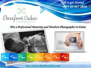 Hire a Professional Maternity and Newborn Photographer in Du