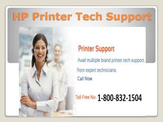HP Printer Tech Support 1-800-832-1504 | Toll Free Number