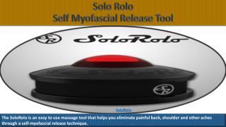 Portable Therapeutic Massage Tool   SoloRolo