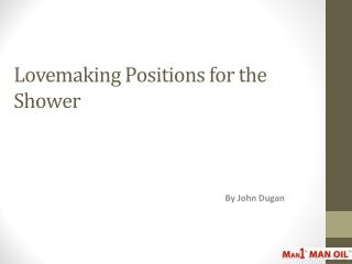 Lovemaking Positions for the Shower