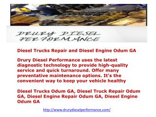 Diesel Trucks Repair and Diesel Engine Odum GA