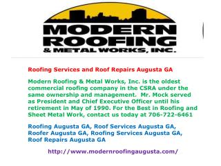 Roofing Services and Roof Repairs Augusta GA