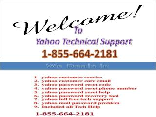 1-855-664-2181 Yahoo Password Reset Contact Number USA