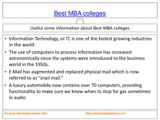 An Efficient Process about best mba colleges