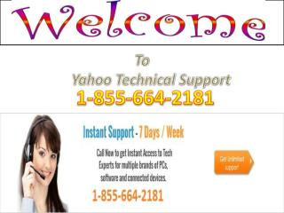 1-855-664-2181 Yahoo Technical Phone Number USA