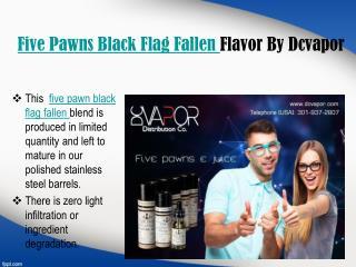 Five Pawns Black Flag Fallen By Dcvapor