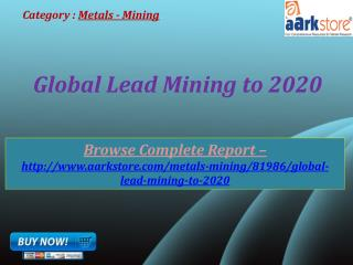 Aarkstore - Global Lead Mining to 2020