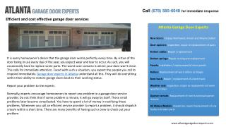Efficient and cost effective garage door services