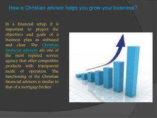 How a Christain advisor helps you grow your business?