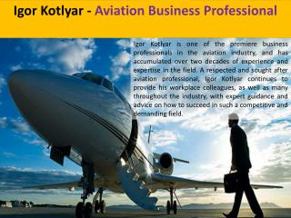 Igor Kotlyar - Aviation Business Professional