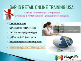 SAP IS RETAIL ONLINE TRAINING IN UK