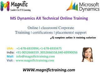 Microsoft Dynamics AX(AXAPTA) Online Training