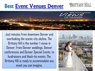Event Venues Denver