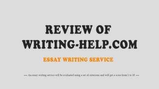 Review of Writing-Help.com